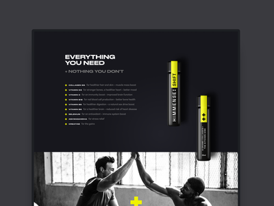 Himmense supplement mental health men wellbeing ui ux web design website