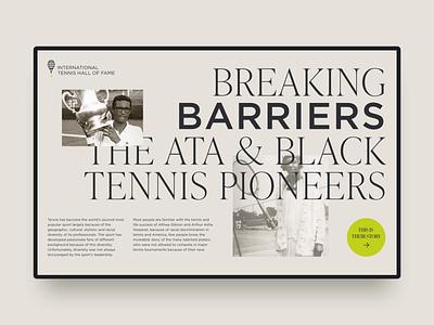 Breaking Barriers ui ux history timeline interaction motion interface digital web design website tennis