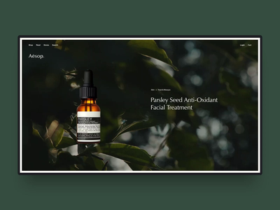 Aesop Concept concept skincare animation motion website concept ux ui web design website aesop