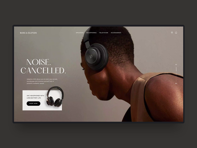 Bang & Olufsen Concept interaction concept motion ui ux web design website