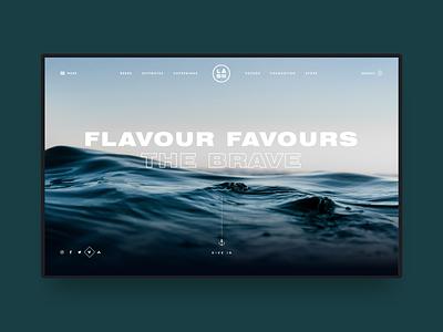 Lost at Sea sea waves ecommerce beer ui ux web design website