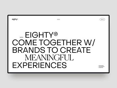 eighty® ui ux motion aniamtion concept web design website
