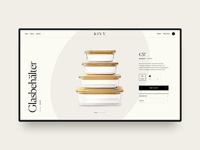 Kivy product kitchenware typography web design website ecommerce