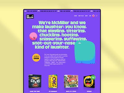 McMiller ecommerce design branding games fun web design website