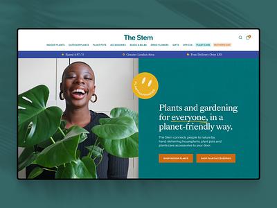 The Stem botanical ecommerce plants ux ui web design website
