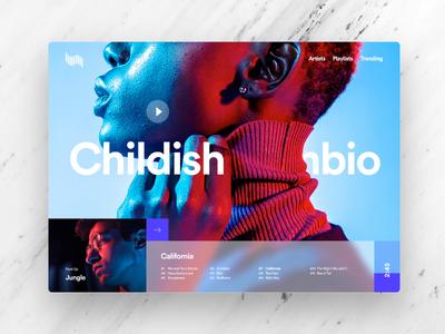 Waves interface design web design ui design ux design digital media ux ui website streaming music