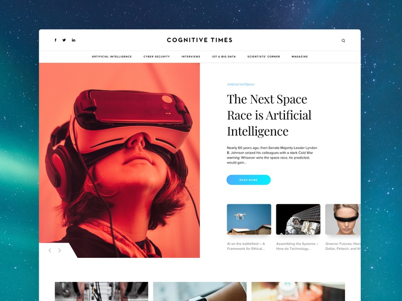 Cognitive Times — Concept B ux design ux  ui web design website blog magazine design magazine