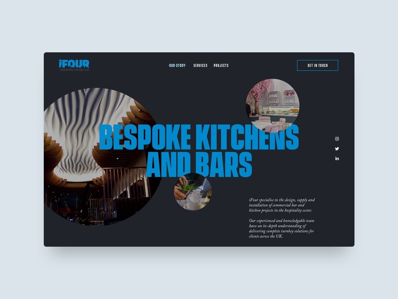 iFour digital design ui ux uiux web design website concept