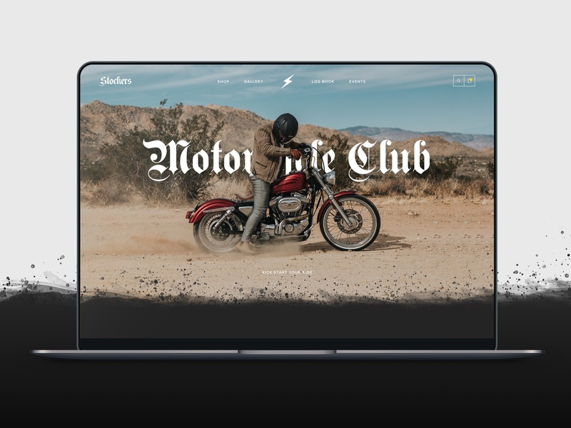 Stockers motorbike ui concept ux uiux web design website bikes motorcyle