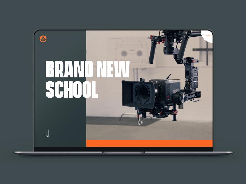 Brand New School digital ux  ui ui  ux design portfolio agency website web design concept