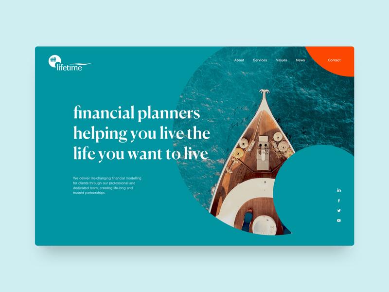 Lifetime Financial Management finance website ui  ux design web design homepage concept