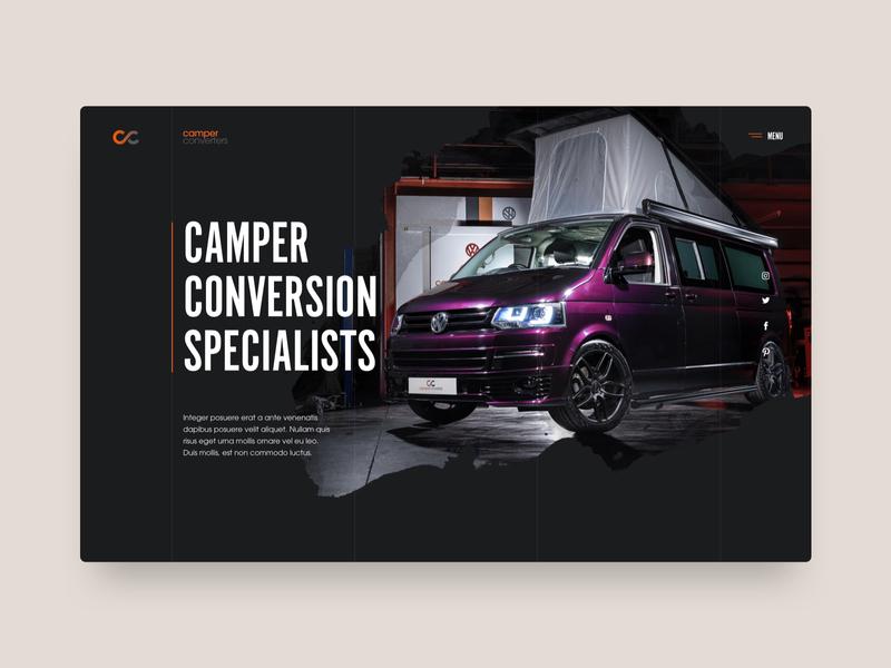 Camper Converters camper van campervan bespoke ui  ux design website design web design website camper
