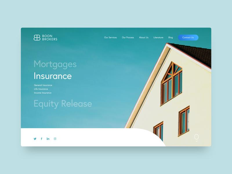 Boon Brokers ui  ux design realty insurance brokers mortgage web design website