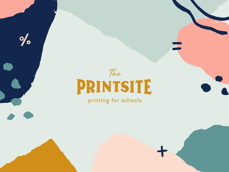The Printsite — Printing for Schools abstract collage paint doodle logo learning education school stationery print branding
