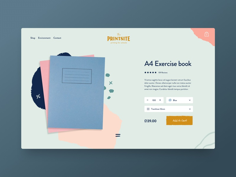 The Printsite — Printing for Schools uiux ux ui pack digital design colourful paint books doodle education commerce ecommerce website school print