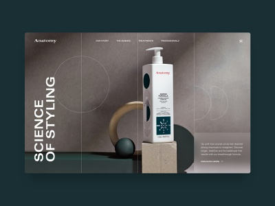 Anatomy Concept uxui ux hair salon styling science hair product concept web design website