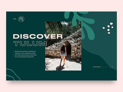 Tulum transitions animation concept website web design travel mexico tulum