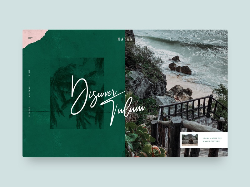 Tulum web design website ux ui landing page concept travel mexico tulum
