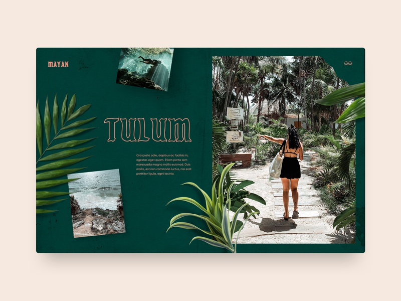 Tulum explore nature website web design typography ux ui interface landing page travel mexico tulum