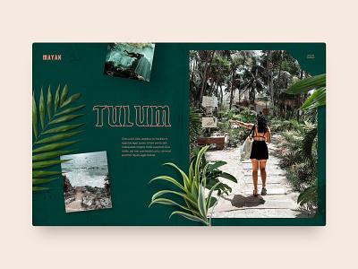 Tulum explore nature website web design typography ux ui interface landing page travel mexico tulum
