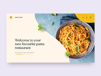 Pasta By Post ux food pasta website web design concept