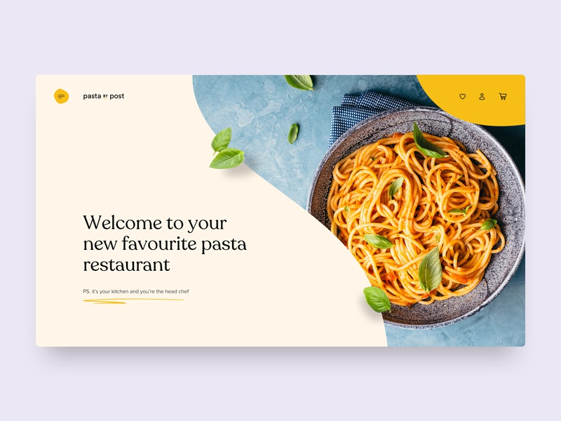 Pasta By Post ux food pasta website web design concept