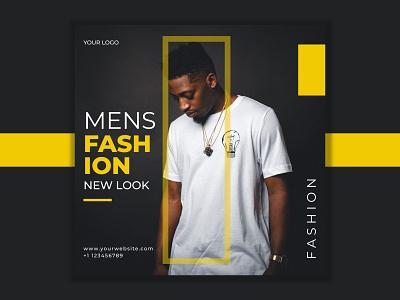 Men Fashion Social Media Poster designs fashion typography branding design