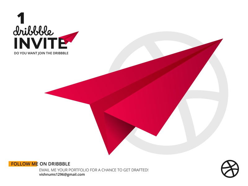 Dribbble invite invitation invite illustrator illustration vector design