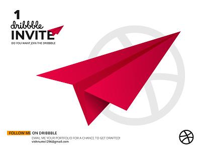 Dribbble invite invitation invite illustrator illustration vector design