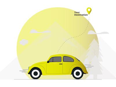 Travelling illustration minimal minimalist minimal traveling design vector art illustration illustrator