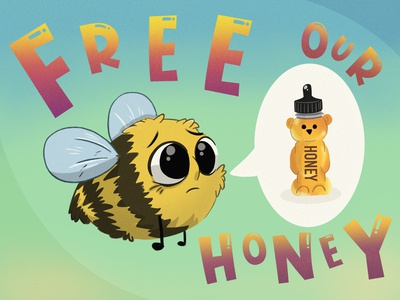 Free The Honey bees honey child illustration childrens book illustration illustration