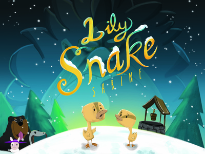 Lily Snake Shrine book cover typography child illustration childrens book illustration illustration