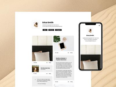 Beige Tumblr Theme ui designer portfolio design website tumblr ui ux web design tumblr theme ui design