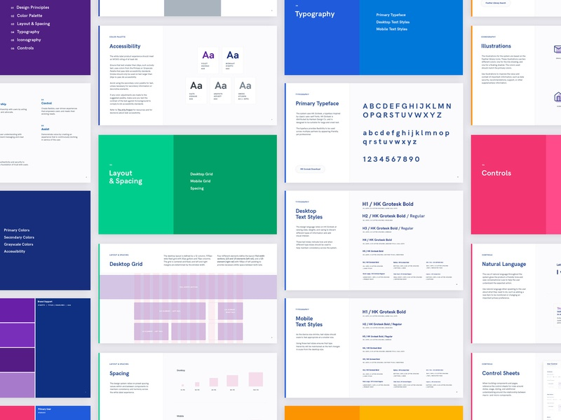 Design Guidelines text styles colors standards guidelines design system