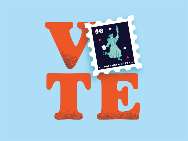 Vote by Mail usps election statue of liberty ballot poster illustration vote by mail vote 2020