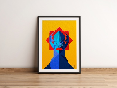 """""""The blue lady"""" Our new poster character illustration graphic design"""