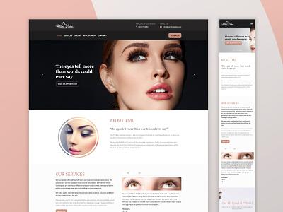 The Million Lashes design web design lashes salon lashes beauty landing page websites beauty salon