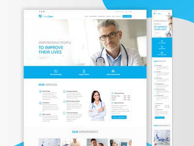 The Clinic - Landing Page web design landing page private clinic landing page private clinic website hospital website clinic website clinic landing page