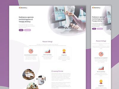 Marketing Agency Landing Page marketing landing page web design website marketing agency marketing landing page
