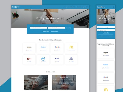 Job Search Landing Page bootstrap job search jobs web design landing page