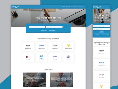 Job Search Landing Page bootstrap job search jobs web design landing page