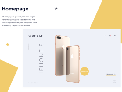 Wompax Mobile Application for iOS | UX UI Design Concep