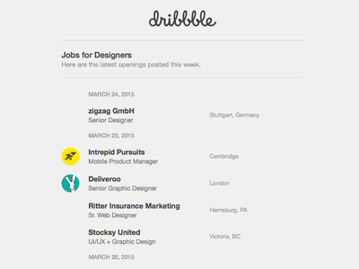 Jobs For Designers dribbble