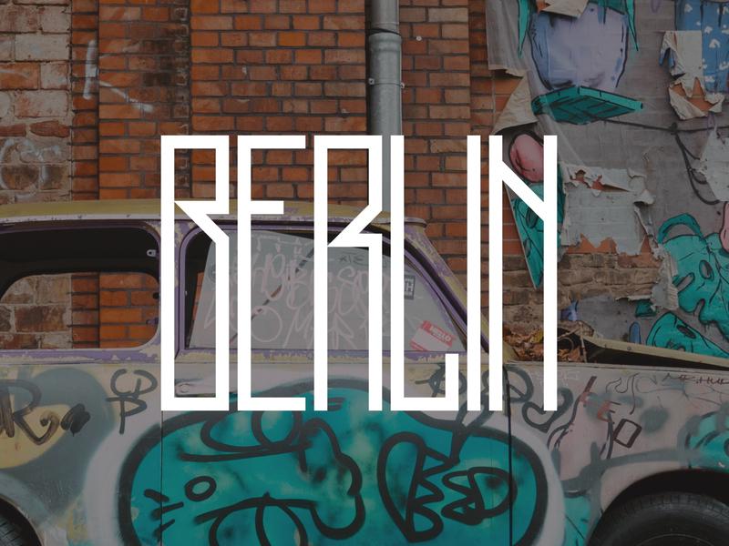 Berlin type font skinny tall germany berlin branding logo design typography lettering bunny sam