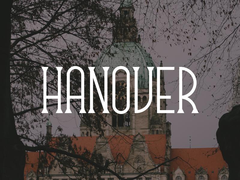 Hanover germany hannover hanover hand lettering branding logo design typography lettering bunny sam