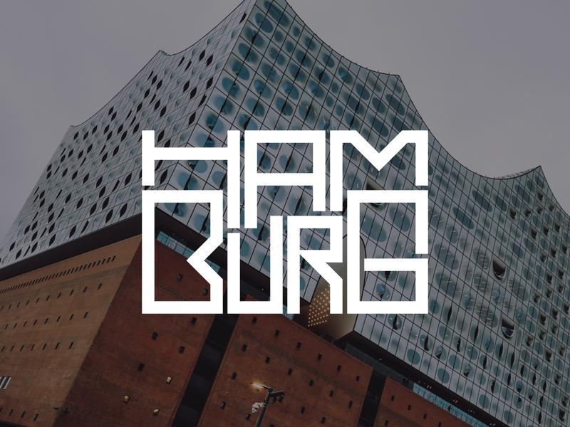 Hamburg germany hamburg hand lettering logo design typography lettering bunny sam