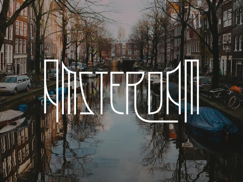 Amsterdam letters type holland netherlands amsterdam logo design typography lettering bunny sam