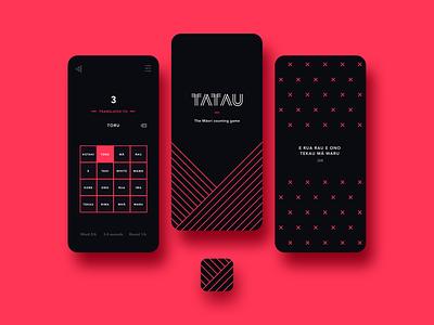 Tatau App maori white māori indigenous game counting new zealand black red digital product app icon app tatau bunny sam