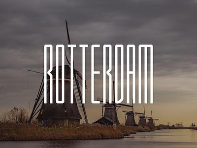 Rotterdam netherlands holland typography illustration lettering art type lettering design sam bunny rotterdam