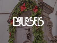 Brussels belgium europe manneken pis design typography lettering bruxelles brussels bunny sam